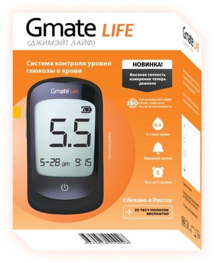 Глюкометр Gmate Life + тест-полоски №25 фото